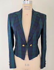 Western Bolero Show Jacket - Sz 4/6 - Navy/Green Plaid