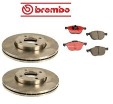 Ford Focus 2005 Front Brake Rotors with Brake Pads Kit Brembo OEM