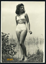 Larger size  vintage Photograph, pretty girl in swimsuit, 1940's Hungary