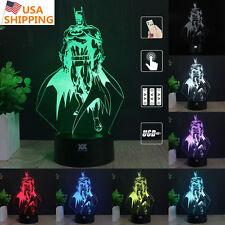 Batman 3D Acrylic LED Night light 7 Color Change Touch Table Desk Art Lamp Gift