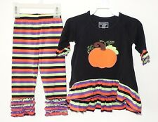New Southern Tots Two Piece Halloween Pumpkin Outfit Girl's Sz 18 Month