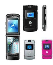 ORIGINAL Motorola RAZR V3 100% UNLOCKED Cellular Phone GSM 2017 Free Shipping