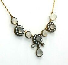 Moonstone Necklace Moonstones, Diamonds & Beads Gold & Silver