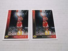 MICHAEL JORDAN 1993-94 UPPER DECK LOT OF 2 ERROR/ VARIATION PROMO CARD # 23
