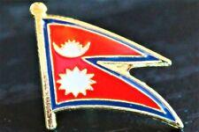 NEPAL Nepalese Metal Flag Lapel Pin Badge *NEW*