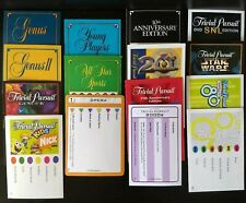 🔴  600 Trivial Pursuit You Choose 12 Sets of 50 Cards 20+ to Choose From 1980's