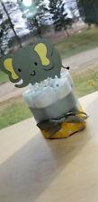 Mini Diaper Cake - Yellow Elephant Theme Diaper Cake for Baby Shower