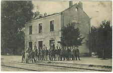 Carte Postale - CPA - Saint Souplet Nord - Bahnhof/La Gare - Soldats