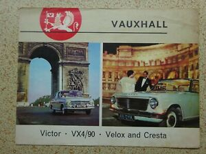 VAUXHALL - ORIGINAL SALES BROCHURE from early 1960's ...SEE PHOTOS.