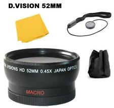 52mm Digital Vision 0.45x Wide Angle Lens For Photo Cameras, DSLR`S & Camcorders