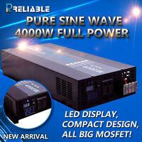 Pure Sine Wave Inverter 4000W Power Inverter 12/24/48V to 120V/220V LED DISPLAY