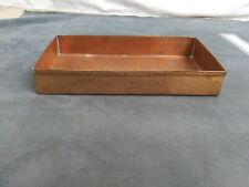 "Vintage Rectangular Copper Tray 10""x6"" 2 "" deep preowned"
