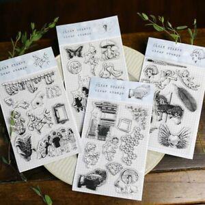 Vintage Transparent Silicone Stamp For DIY Scrapbooking Decorative Card Making
