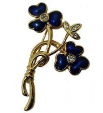 Brosche Blume mit blauen Blüten