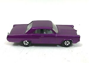 Vtg Lesney Matchbox Superfast PURPLE Pontiac GP Sports Coupe 22 CLEAN 1970