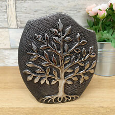 Modern Gun Metal Ceramic Home Wedding Table Decorative Tree Of Life Flower Vase