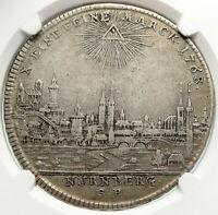 1768 GERMANY NURNBERG Nuremberg CITY VIEW German Silver Taler Coin NGC i84937