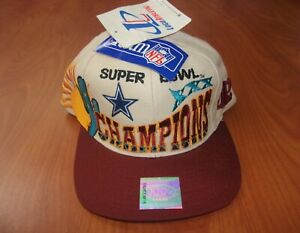 Vintage 90's Logo Athletic NFL Dallas Cowboys Super Bowl XXX Champions Hat ~NWT~
