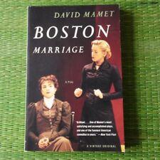 Boston Marriage by David Mamet paperback new play drama script
