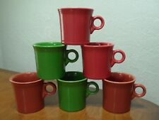 Fiesta Fiestaware HLC Lot of 6 Coffee Cups Mugs Mixed Color Set Ring Handled