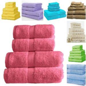 100% Cotton Towel Sets Bath Sheet Hand Large Bale 500 GSM Bathroom & 6 Piece Set