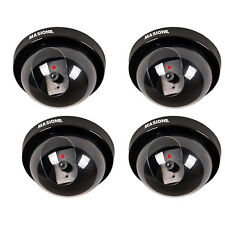 4X Genuine Dome Red LED Light CCTV Fake Security Dummy Camera