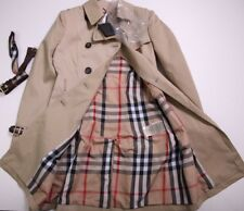 BURBERRY COAT JACKET WOMENS  BEIGE DOUBLE BREASTED TRENCH SIZE M GENUINE