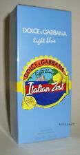 DOLCE & GABBANA LIGHT BLUE~ITALIAN ZEST~WOMEN PERFUME EDT 3.3 oz SPRAY 100ml D&G