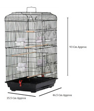 Large Metal Bird Cage for Budgie Parakeet Canary Cockatiel Finch or Lovebird