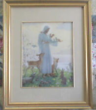 Margaret W Tarrant - The Lesser Brethren Beautifully Framed and Matted -EX