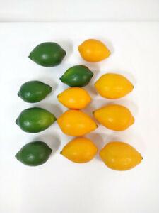 Lot of 12 Lemons and Limes Fake Faux Kitchen Decor Fresh Farmhouse Modern