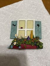 New ListingMary Engelbreit Fairy Window wall hanging plaque Studio M Ladybug Flowers Moon