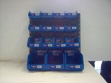 Fischer Stor-Pak Starter Kit Plastic Boxes with a Brownbuilt Metal Louvre Panel