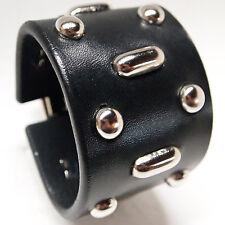 Black Leather bracelet cuff Fear & Loathing Vegas Custom NYC!