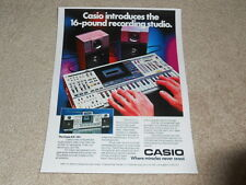 Casio KX-101 Keyboard,C​assette, Boombox Ad, 1984, RARE, Article