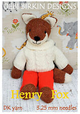 HENRY FOX TOY KNITTING PATTERN