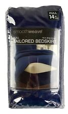 """Smoothweave Navy Blue Full Size Tailored Bedskirt With 14"""" Drop New"""