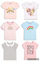 💜 Girls Summer T-shirts Tops Ages 2 3 4 5 6 7 8 Rainbow Floral Kids Children