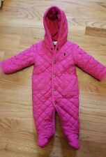 Ralph Lauren Baby Girls Quilted Fleece Lined Jacket/Coat/Snow Suit, Sz. 6 Mo