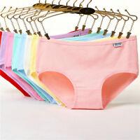 Women's Cotton Panties Breathable Low Waist Underwear Briefs Knickers Plus Size