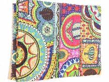 Ethnic Bedspread Ralli QueenSIze Vintage Kantha Quilt Indian Handmade Blanket YZ