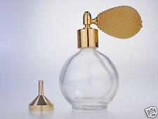 GOLD ROUND BOTTLE BULB PERFUME ATOMIZER 78ml NEW