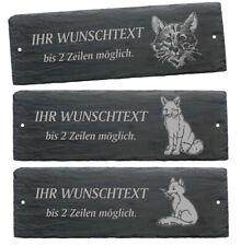 Schiefertafel Schild FUCHS Fox Türschild Klingelschild Familienname Namensschild