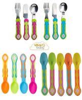 Vital Baby 5 Soft Tip Weaning Spoons, Cutlery Set BPA Free Baby Spoon, Fork
