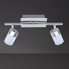 WOFI Plafonnier LED Maar à 2 lampes Chrome spots réglable poutres de plafond