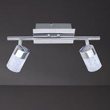 WOFI lámpara LED de techo Maar 2 Luces Cromado Focos ajustable Viga pasillo baño