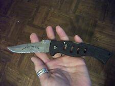 FROST Cutlery Green Beret Folding Lock Back Pocket Knife w Sheath NEW