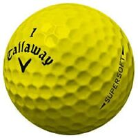 24 Callaway Supersoft Yellow Near Mint Used Golf Balls AAAA 4A Free Shipping