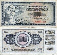 SFRJ Yugoslavia 1981 1000 Dinar DInara Socialist Yugoslav Communist Banknote