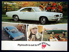 Prospekt brochure 1967 Plymouth Barracuda (USA)